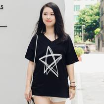 2018新款T恤加肥加大码女装微胖mm夏装妹显瘦韩版短袖上衣200斤