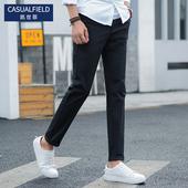 韩版 学生修身 子男士 子男休闲裤 弹力纯棉小脚裤 直筒裤 卡其色裤