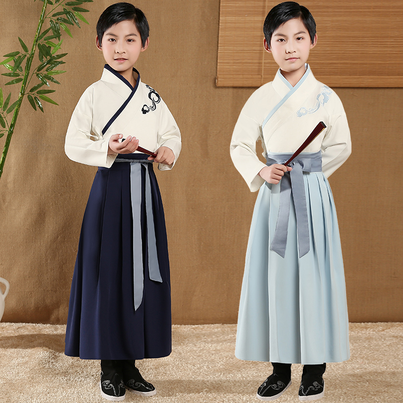 Children's Day Han Chinese clothing men's improved summer ancient Tang suit students Chinese style children's wear traditional male