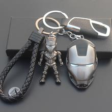 美国队长钥匙扣挂件男女汽车钢铁侠钥匙链金属盾牌创意复仇者漫威图片