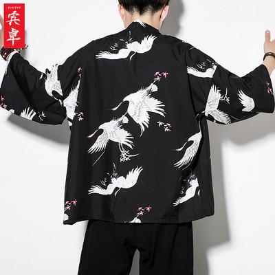 夏季薄款防晒外套中国风男装汉服复古风仙气服装男士道袍唐装古装