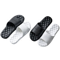 Buy one get one free slippers female summer household bathroom non-slip bath summer home home indoor couple summer men