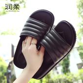 室外穿拖鞋 夏季凉拖鞋 男潮流 女浴室防滑厚底居家情侣塑料拖鞋