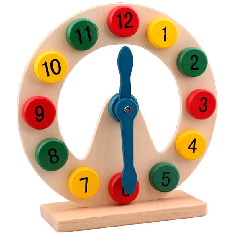 Montessori teaching aid early education know digital time clock wooden young children Montessori interest