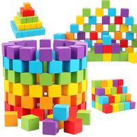 Square volume wood mathematics teaching aids wooden cubic small squares fight building blocks kindergarten children's educational toys