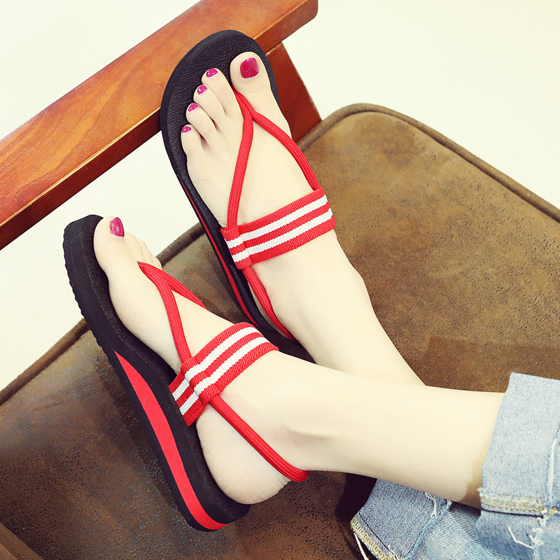 人字凉鞋女平底