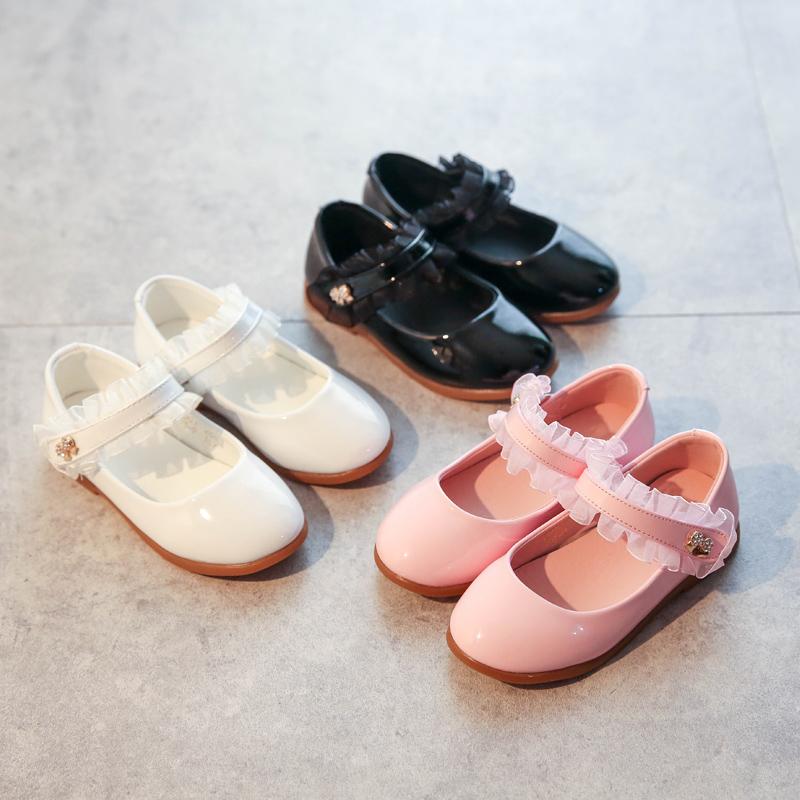 女童圆头公主鞋2017秋季新款儿童皮鞋防滑软底宝宝鞋子小女孩单鞋