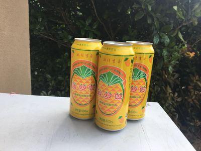绿太菠萝味啤酒饮料500ml*9罐  包邮  破损包赔