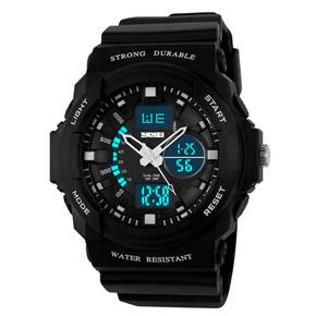 时尚光能表防水电子表户外运动男表学生男士手表