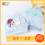 Beibei Yi newborn baby hat 2019 new men and women baby warm cotton stretch cartoon tire cap combination