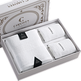 Shimao Hilton Hotel authorized five-star hotel bath towel pure cotton adult large towel gift box 1 Bath + 2 sides