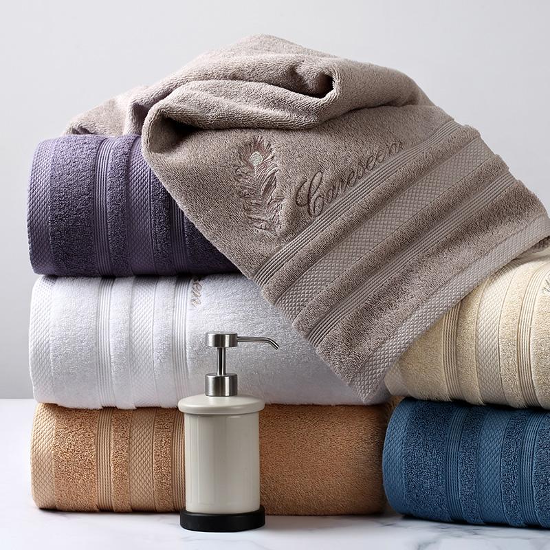 纯棉缎档浴巾
