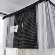 Student dormitory bed curtains under the bed 幔 Princess wind female bedroom above the shop artifact simple Korean curtain shading nets