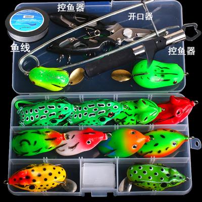 特价路亚饵雷蛙套装免改装雷蛙青蛙鱼饵带亮片黑鱼专杀假饵淡水