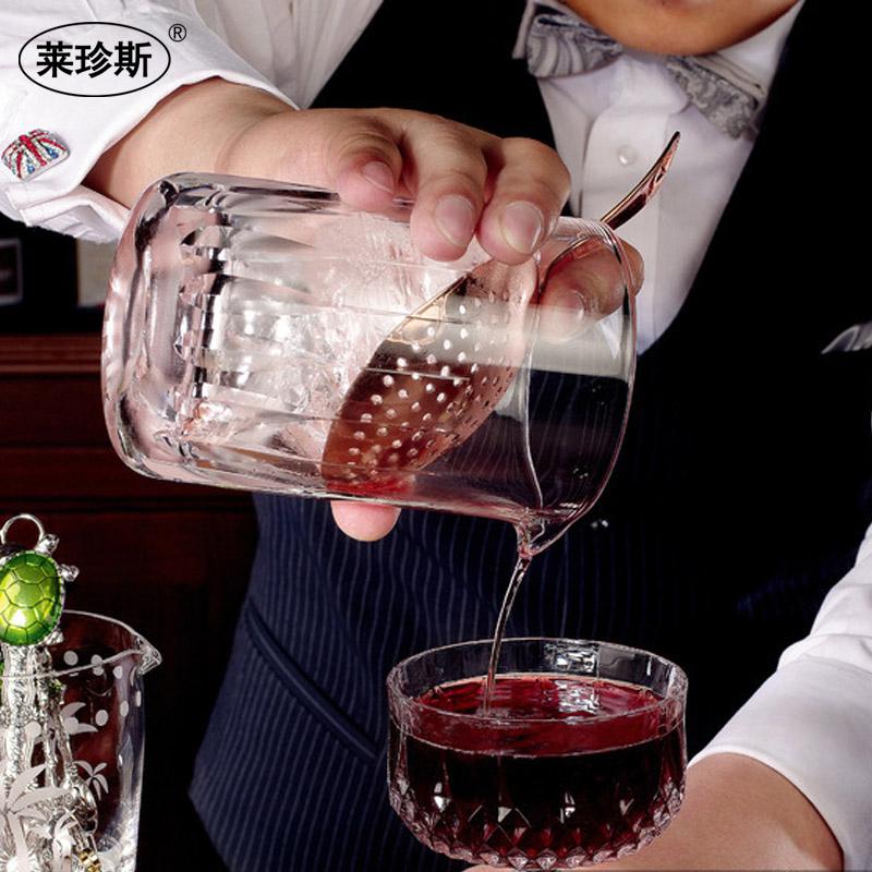 不锈钢滤冰器金色冰隔勺子过滤器滤网漏网滤酒器酒吧调酒器工具