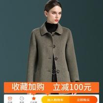 秋冬女装韩版千鸟格子大衣中长款小西装大码毛呢薄外套风衣2015