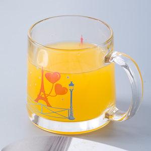 乐美雅情侣杯子一对玻璃家用创意水杯简约学生马克杯早餐牛奶对杯
