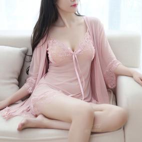 睡衣女夏冰丝两件套装性感吊带睡裙透明薄沙火辣情趣内衣极度诱惑