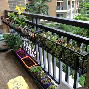 铁艺阳台挂式多层护栏客厅壁挂花架多肉植物窗台栅栏花篮架子