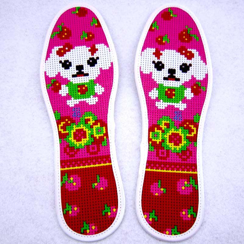 爱佳十字绣鞋垫半成品会员专享链接纯棉精准印花男女