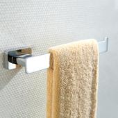 德国出口毛巾环杆可免打孔全铜浴室挂件浴巾环卫生间五金挂件壁挂