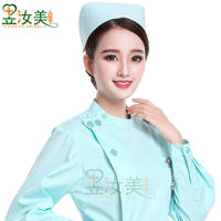 Nurse hat doctor hat work hat head flower swallow hat men and women medical blue pink cotton thick polyester card white