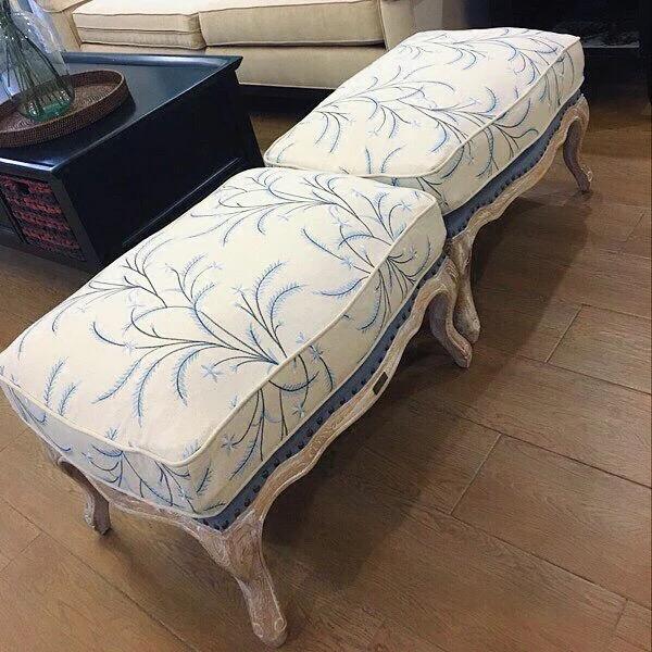 单人沙发布艺沙发凳