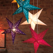 Christmas decorations Christmas tree ornaments three-dimensional laser five-pointed star star shopping mall hotel ceiling decoration pendant