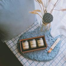天然精油香薰蜡烛卧室无烟香氛蜡烛礼盒婚庆礼物玻璃杯净化空气