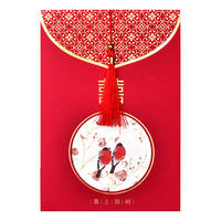 Wedding creative invitation wedding invitation wedding invitation invitation Chinese print Chinese style red 2018
