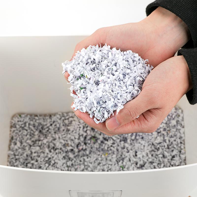 天文80张自动粉碎机静音安全办公家用大功率 5级保密 文件碎纸机