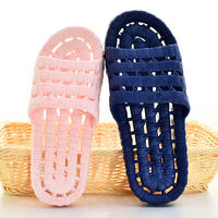 Bathroom slippers female summer men's home indoor slippers non-slip couples bath plastic hole leaking home slippers