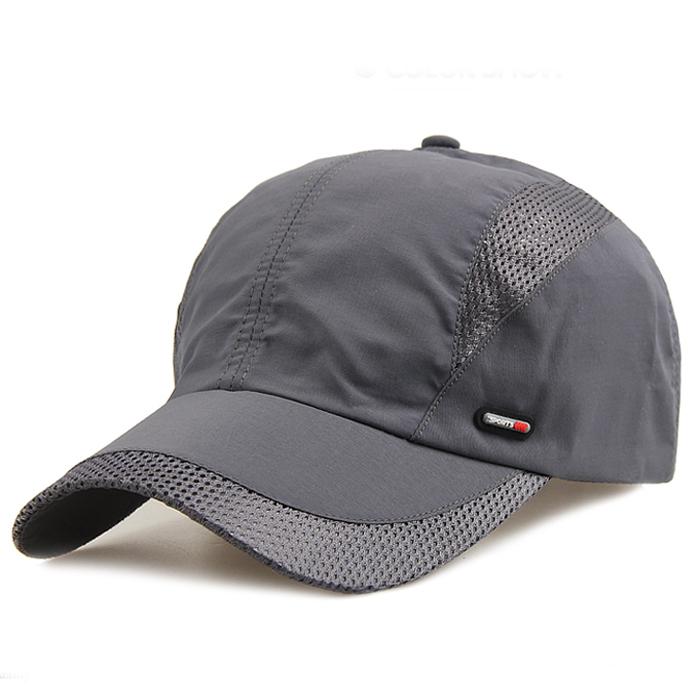 春夏季透气速干帽男士户外网帽棒球帽夏天遮阳太阳帽超薄鸭舌帽男