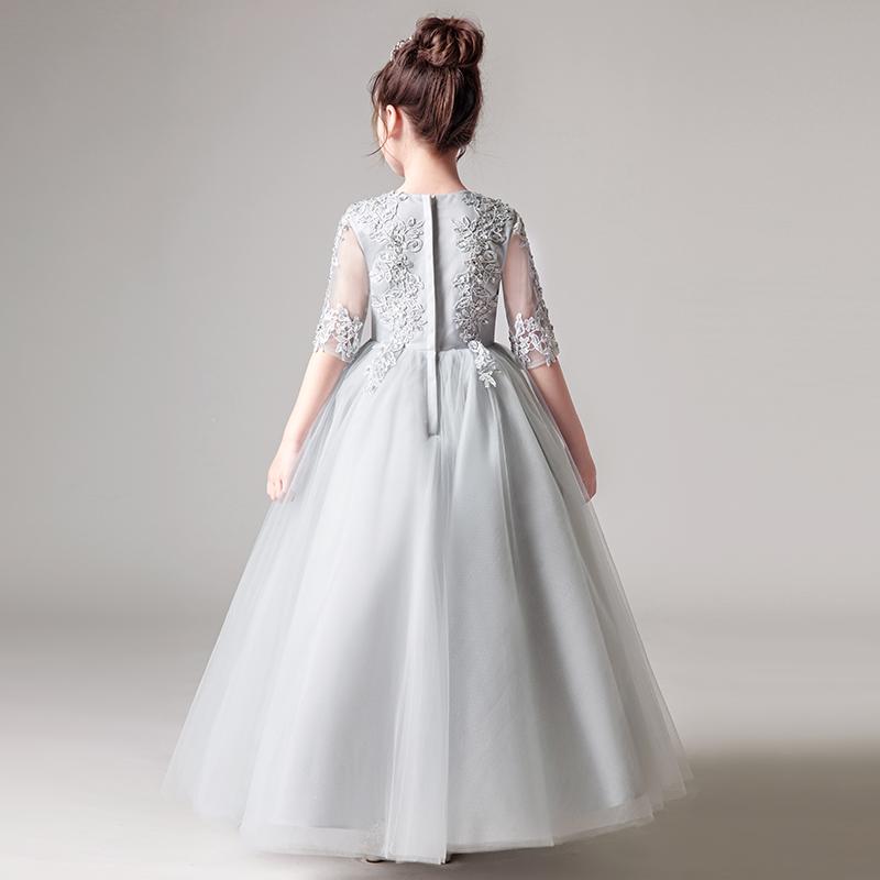 儿童礼服裙公主裙女童蓬蓬纱婚纱裙花童钢琴演出服小主持人晚礼服