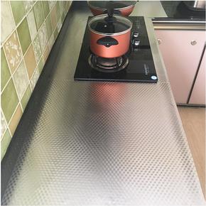 厨房防油贴纸防潮防水灶台铝箔贴纸耐高温橱柜锡箔锡纸抽屉垫自粘