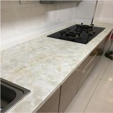 厨房防油贴纸防水自粘橱柜灶台桌面浴室瓷砖耐高温墙贴大理石贴纸