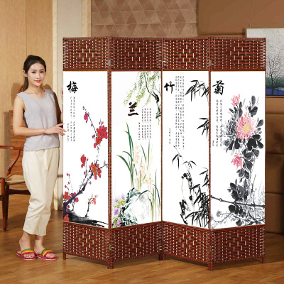 屏风隔断墙可折叠移动房间卧室活动推拉客厅布艺家用帘子简易屏障网上商城