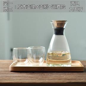 创意耐高温玻璃冷水壶 家用大容量防爆冷水壶套装果汁壶扎壶包邮