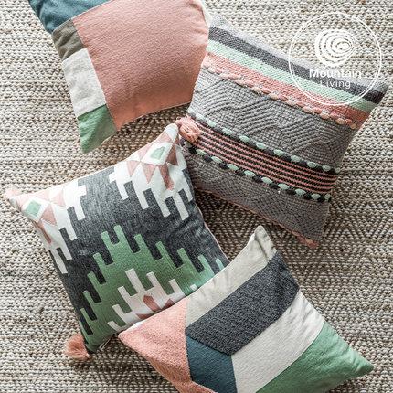 进口棉麻北欧抱枕 ins风沙发靠垫男女抱枕套不含芯客厅卧室床头