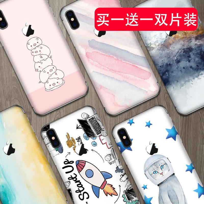 苹果iPhonexr手机x贴纸6s全身max全包plus背贴膜8后膜背膜7全身贴