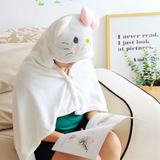 Shawl nap blanket cute melody big ear dog siesta air conditioning blanket cloak cloak small blanket with hat