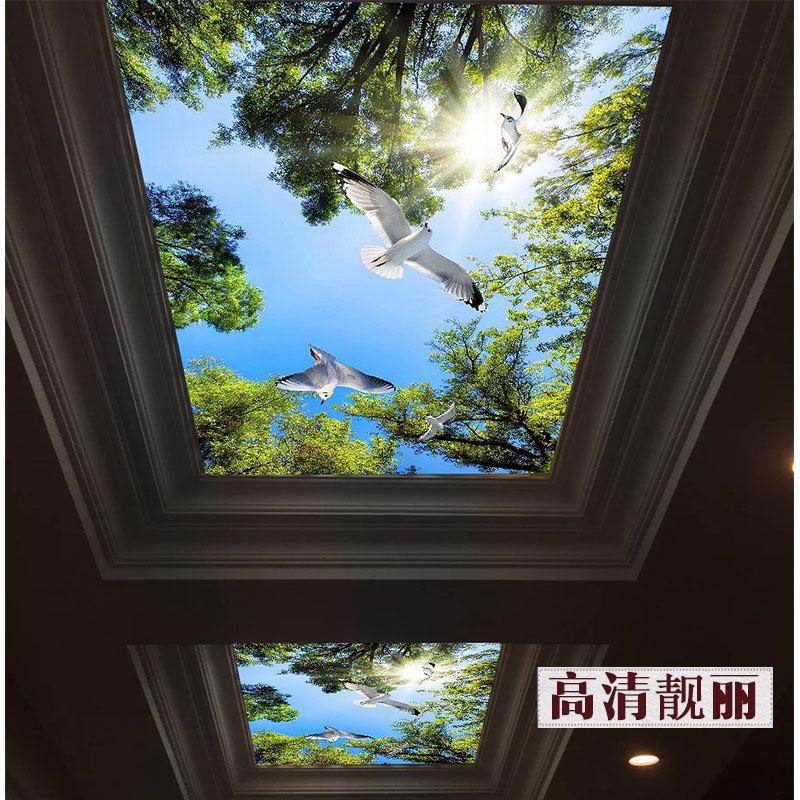 3d艺术玻璃吊顶过道走廊客厅玄关透光玻璃天花隔断屏风背景墙定做