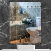 浴室鏡子免打孔衛生間貼墻鏡簡約無框廁所洗手間化妝鏡壁掛衛浴鏡