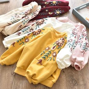 童装女童卫衣2018秋装新款韩版儿童套头衫中小童宝宝圆领长袖上衣