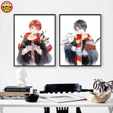 Harry Potter Ron and Hermione diy digital oil painting anime characters hand-painted hand-filled digital oil painting