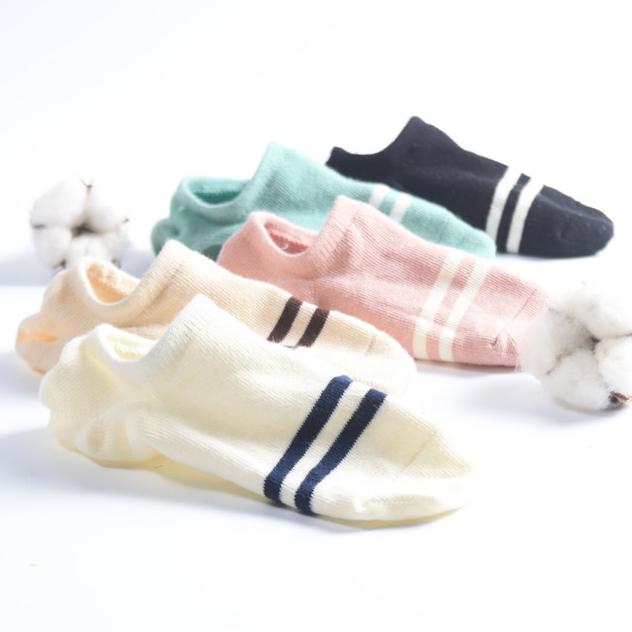 袜子女船袜女纯棉短袜潮浅口隐形韩国可爱硅胶防滑韩版中筒袜批发图片