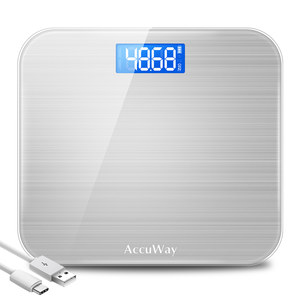 千选usb可充电电子称家用人体体重秤迷你成人减肥秤精准称重计女