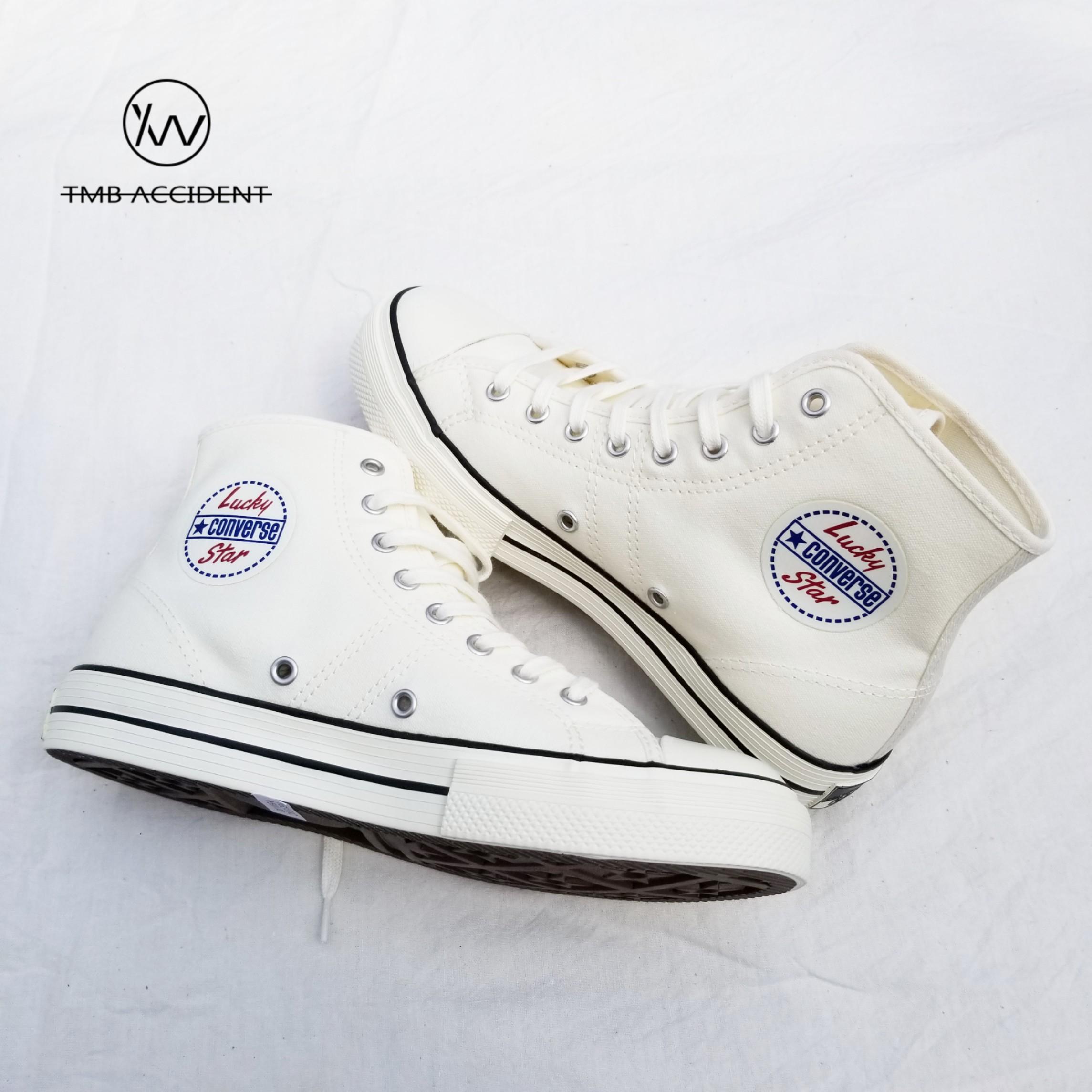 Converse匡威Lucky Star 1950s 白色高帮男鞋女鞋帆布鞋163158C