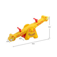 Kindergarten indoor and outdoor plastic giraffe seesaw double rocking horse baby Trojan child seesaw toy