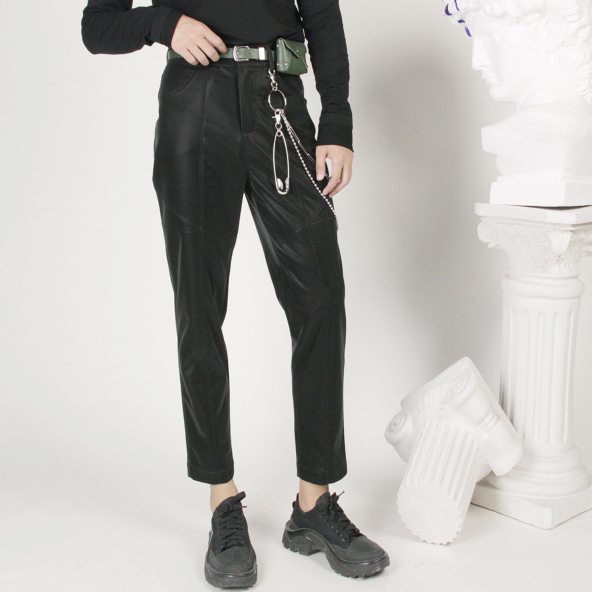 Кожаные брюки Артикул 575957121455
